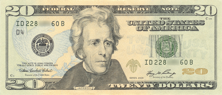 2006 Twenty Dollar Bill